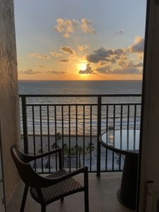 Photo of a caregiver vacation sunrise