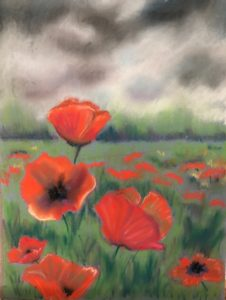 Things I miss include seeing him standing tall, like the poppies in this painting